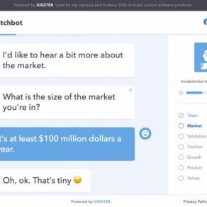 Chatbot bereitet auf das Pitchen vor